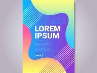 现代抽象渐变形状封面组成矢量素材