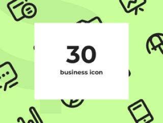 易于使用和准备去Sketch&Illustrator的业务图标。,30个业务图标