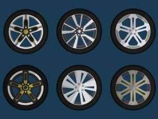 汽车矢量集合的轮毂罩