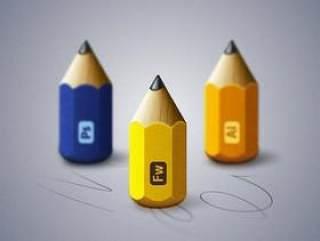 精致铅笔图标ICO格式