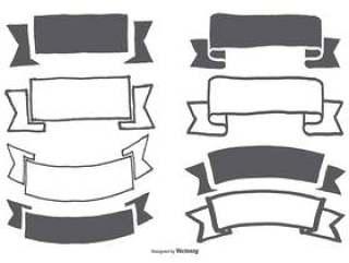手绘横幅/丝带集合
