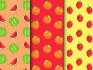 的无缝水果图案