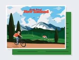 新西兰明信片矢量