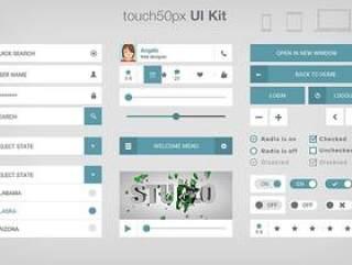 网页UI设计PSD分层
