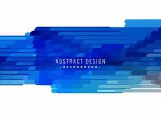 抽象的蓝色线条形状矢量背景