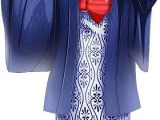 年轻女子穿着温泉春天浴衣整个身体