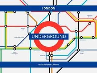 地铁伦敦交通。地铁。