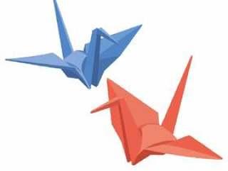 折叠起重机红色和蓝色