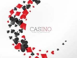波浪风格的赌场玩纸牌元素