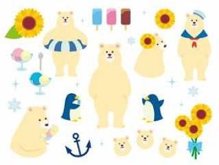 北极熊的插图集合