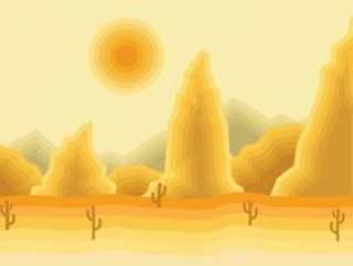 沙漠景观的插图