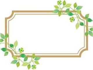 植物装饰框架矩形
