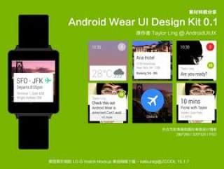 (转载)Android Wear UI Design Kit 0.1