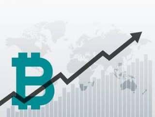 比特币向上增长图表设计背景