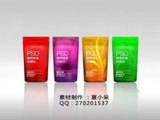 化妆品包装PSD分图层透明素材