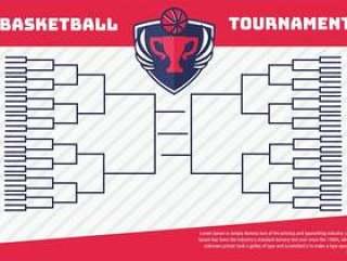 篮球锦标赛支架海报