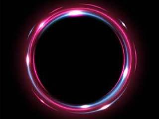 圆形光泽闪亮