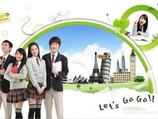 韩国学生校园主题PSD_01