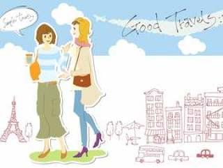 日本女人并排和外国女人(无线)