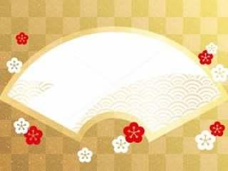 典型的日式风格的矢量框架。