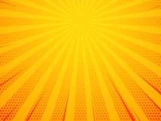 黄色波普艺术漫画风格背景与光线