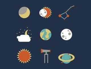 日食和太空矢量包