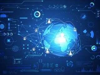 技术ui未来派概念世界数字hud接口