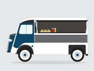 孤立的食物卡车