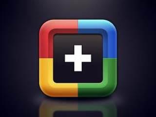 临摹谷歌加Google+图标icon