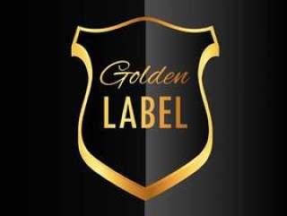 优质金色徽章标签符号设计