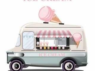冰淇淋架卡车