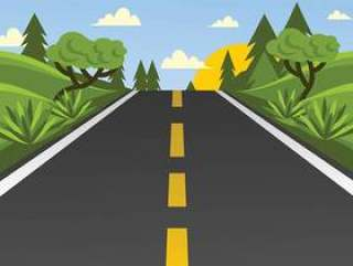 高速公路矢量图