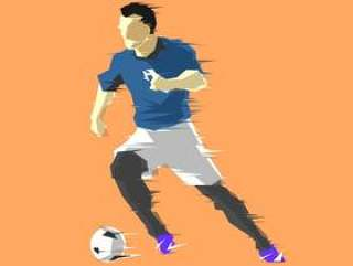 运球抽象的足球运动员矢量