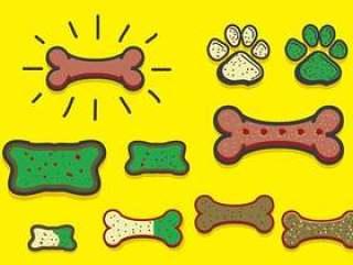 与饼干传染媒介的狗饼干