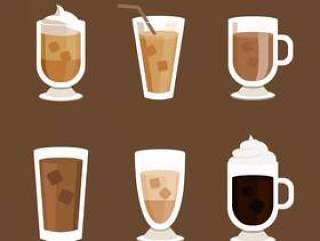 冰的咖啡图标矢量