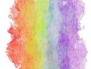 彩虹色的水彩壁纸·垂直