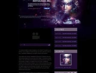 经典科技网站PSD分层素材