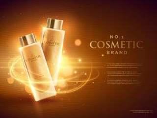 优质化妆品品牌广告与闪闪发光的概念设计