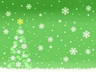 圣诞树背景005绿色