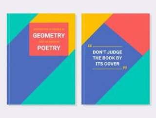几何励志书封面矢量包
