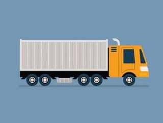 移动卡车矢量图