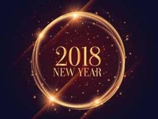 闪闪发光的2018年新年框架与闪闪发光背景