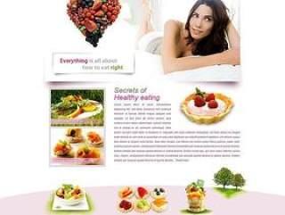 粉红色食品生活网站设计模板PSD
