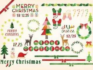圣诞节信件和例证集合