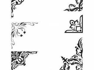复古装饰品框架角落边框装饰元素