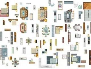 家具平面图psd分层素材