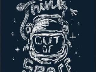 与口号的宇航员例证