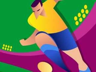 巴西世界杯足球运动员