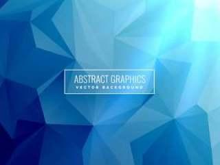 抽象的蓝色背景与低多边形三角形