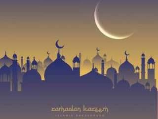 伊斯兰斋月节与月亮和清真寺